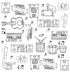 Doodle of object music theme vector image