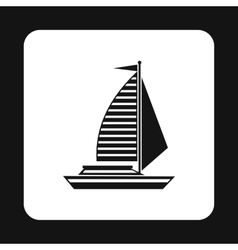 Sailing boat icon simple style vector
