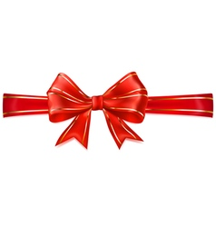 Beautiful red bow vector