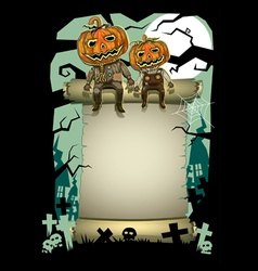 Halloween pumpkin background vector