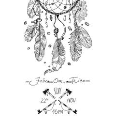 Tribal invitation design vector image