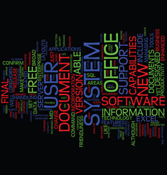 Essential new features of office text background vector