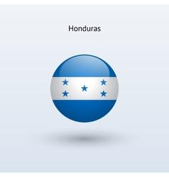 Honduras round flag vector image