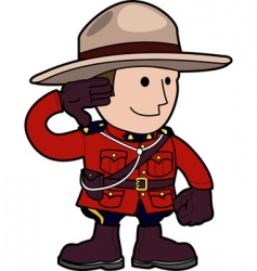 Mounty vector image