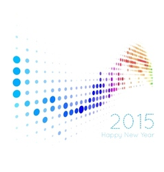 Happy 2015 new year vector image
