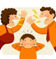 Fighting parents vector
