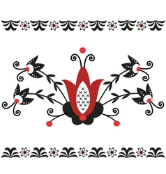 Folk pattern decor-6 vector