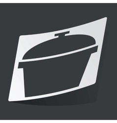 Monochrome pot sticker vector