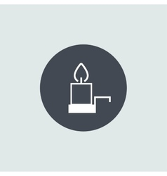 Icon christmas candle for holiday season vector