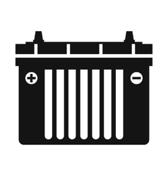 Black flat battery icon vector