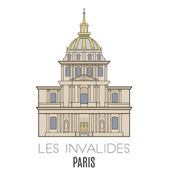 Les invalides paris vector