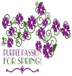 Purple Passion vector image