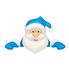 santa blue costume vector image