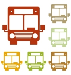 Bus sign vector