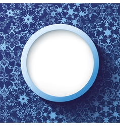 Abstract winter frame with decorative snowflakes vector