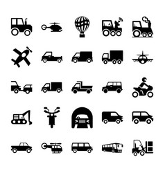 Automobile glyph icons 3 vector