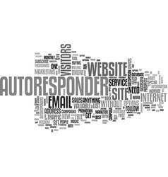 Autoresponder magic text word cloud concept vector