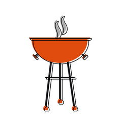 Bbq grill icon image vector