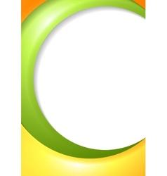 Bright wavy corporate design vector image vector image