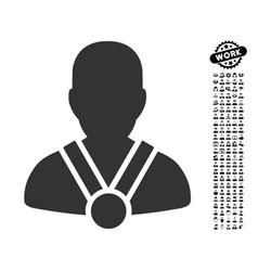 Champion icon with professional bonus vector