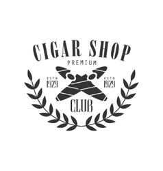 Crossed cigars premium quality smoking club vector