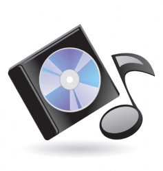 disk and note vector image
