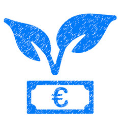 euro startup sprout icon grunge watermark vector image