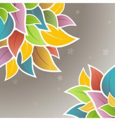 floral corner design vector image vector image