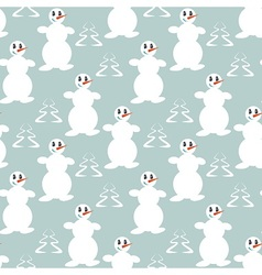 Funny dancing snowmen vector image