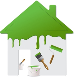 home repair and painting tools vector image vector image