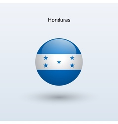 Honduras round flag vector image vector image