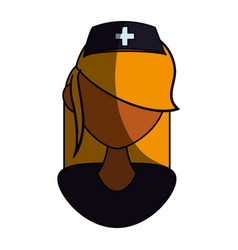 Isolated women doctor face vector