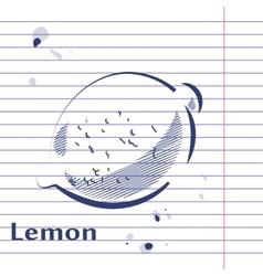 Lemon Doodle vector image vector image