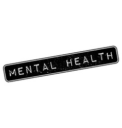 Mental health rubber stamp vector