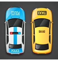 Police And Taxi Cars vector image