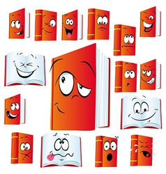 red book cartoon vector image
