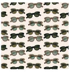 Seamless sunglasses pattern vector image vector image