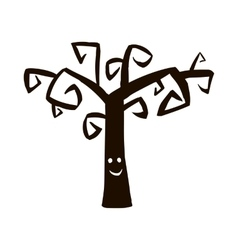 Silhouette of tree icon vector