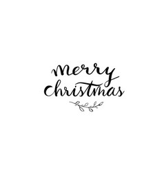 Small branches around words saying merry vector