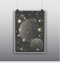 Starry poster design vector
