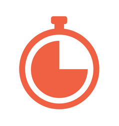 stopwatch icon 10 eps vector image