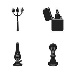 street lamp lighter kerosene lamp lamp of vector image vector image