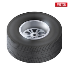 Tire and wheel of car Top view vector image