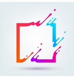 with Abstract Colorful Square vector image vector image