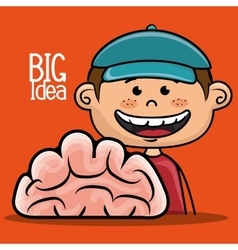 Boy idea intelligent vector