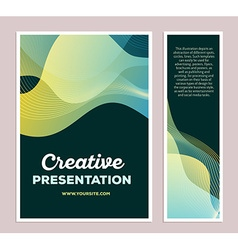 Template of green colorful abstract composit vector