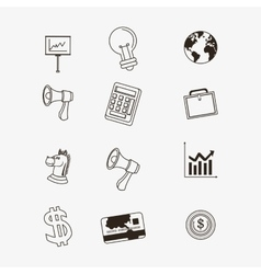 Economy related icons line design image vector