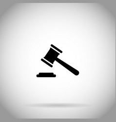 Gavel icon judge hammer symbol auction icon vector