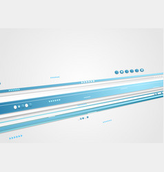 Blue tech corporate motion background with arrows vector