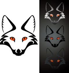 Logo fox vector